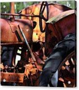 Rusty Tractor Acrylic Print