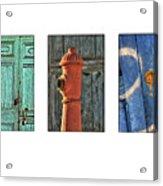 Rusty Triptych Acrylic Print