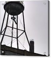 Rusty Water Tower Acrylic Print