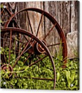 Rusty Wheels Acrylic Print