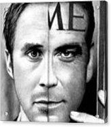 Ryan Gosling And George Clooney Acrylic Print