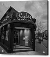Ryles Jazz Club Cambridge Ma Inman Square Hampshire Street Black And White Acrylic Print
