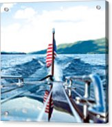 Ryp'd View Of Lake George, Ny Acrylic Print