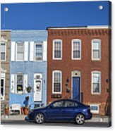 S Baltimore Row Homes - Wide Acrylic Print