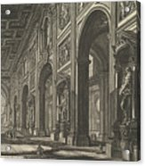 S. Giovanni In Laterano. Interior Acrylic Print