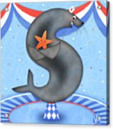 S Is For Seal And Starfish Acrylic Print