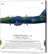 Saab J32e Lansen - 32507 - Side Profile View Acrylic Print