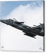 Saab Jas-39 Gripen Of The Czech Air Force Acrylic Print