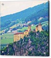 Saben Abbey On High Cliff Near Klausen View Acrylic Print