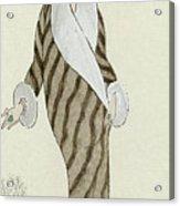 Sable Coat With White Fox Trim Acrylic Print