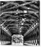 Sachs Bridge - Gettysburg - Bw-hdr Acrylic Print