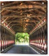 Sachs Bridge - Gettysburg - Vert.-hdr Acrylic Print