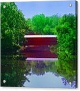 Sachs Covered Bridge - Gettysburg Pa Acrylic Print