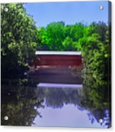 Sachs Covered Bridge In Gettysburg  Acrylic Print