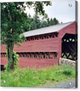 Sachs Covered Bridge  Acrylic Print