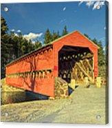 Sachs Covered Bridge Square Acrylic Print