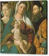 Sacra Conversazione 1520 Acrylic Print