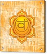 Sacral Chakra - Awareness Acrylic Print