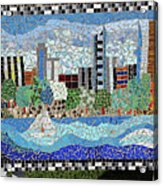Sacramento City Skyline Mosaic Acrylic Print