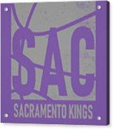 Sacramento Kings City Poster Art Acrylic Print