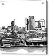 Sacramento Skyline N. Acrylic Print