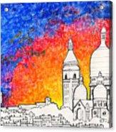 Sacre Coeur Acrylic Print