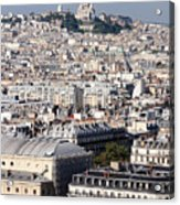 Sacre Coeur At The Summit Of Montmartre Paris Acrylic Print