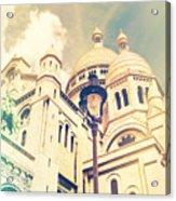 Sacre Coeur Church Vintage Shabby Chic Style Acrylic Print