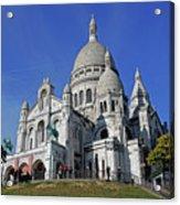 Sacre Coeur In The Montmartre Area Of Paris, France  Acrylic Print