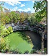 Sacred Cenote In Chichen Itza Acrylic Print