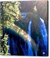 Sacred Geometry Rainbow Acrylic Print