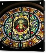 Sacred Heart Of Jesus Stained Glass Window Acrylic Print