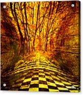 Sacred Temple Of The Trees Acrylic Print by Jenny Rainbow