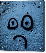 Sad Graffiti Acrylic Print