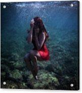 Sad Mermaid Acrylic Print