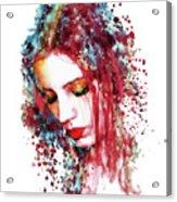 Sad Woman Acrylic Print