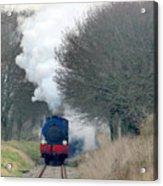 Saddle-tank Locomotive Puffing Uphill Acrylic Print