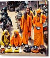 Sadhu Near The Thirupparamkunram Murugan Temple Acrylic Print
