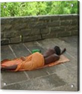 Sadhu Sleeping On Arunachala India Acrylic Print