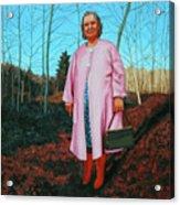 Sadie In Pink Acrylic Print