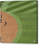 Safeco Field Abstract Patterns With Ground Crew Preparing Field  Acrylic Print
