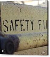 Safety First Acrylic Print