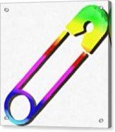 Safety Pin Rainbow Painting Acrylic Print