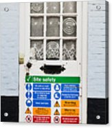 Safety Sign Acrylic Print