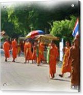 Saffron Everywhere Acrylic Print