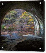 Sagamore Creek Tunnel Exit Interior Acrylic Print
