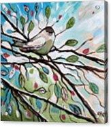 Sage Glimmering Songbird  Acrylic Print