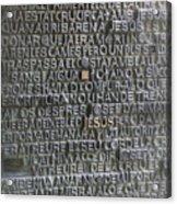 Sagrada Familia Doors Acrylic Print