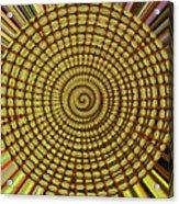 Saguaro Cactus Top Abstract #4 Acrylic Print