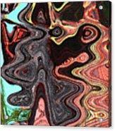 Saguaro Sore Abstract Acrylic Print